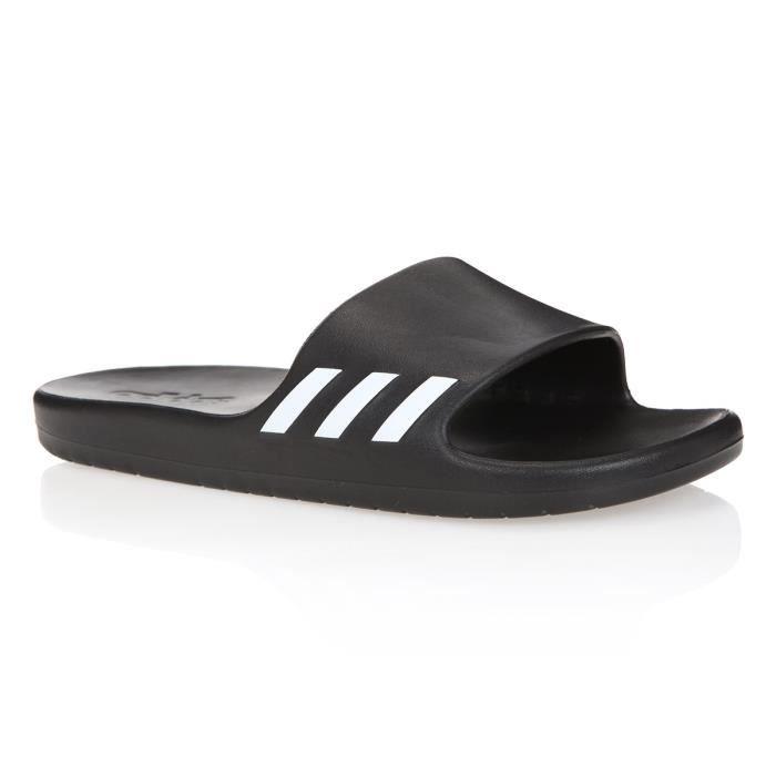 ADIDAS Sandales de piscine Aqualette - Femme - Noir et blanc
