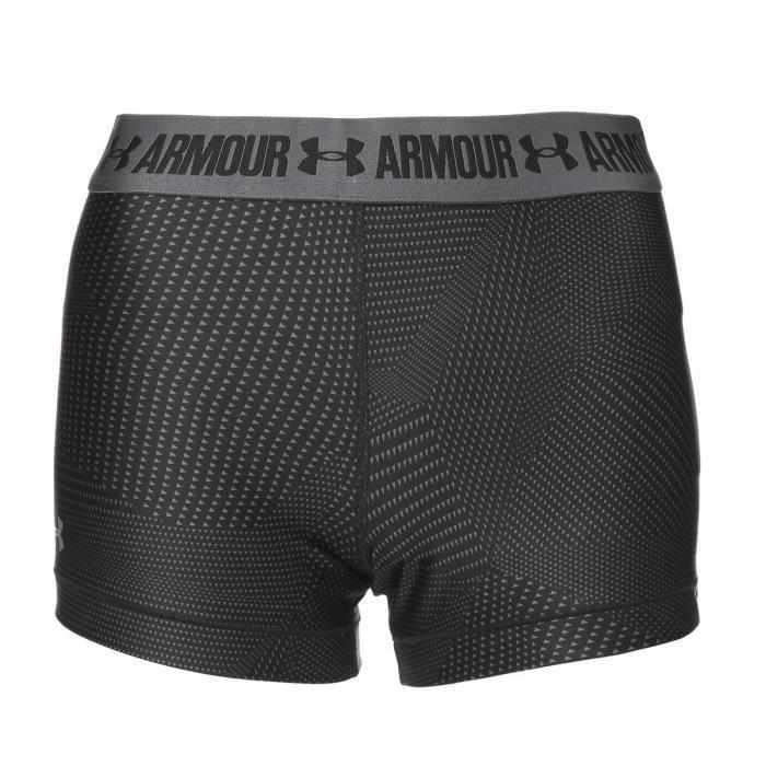 UNDER ARMOUR Short Imprimé HG Armour - Femme - Noir