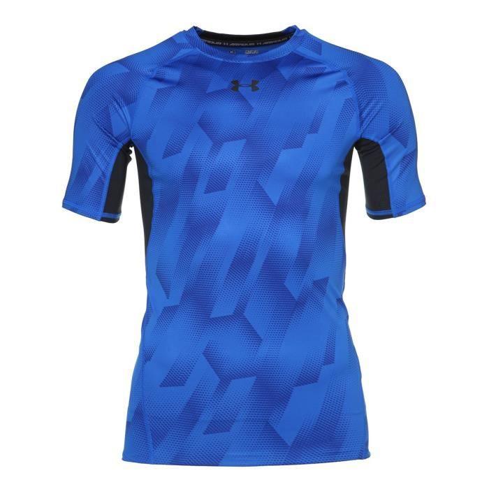 UNDER ARMOUR T-shirt Manches courtes HG Armour - Homme - Bleu