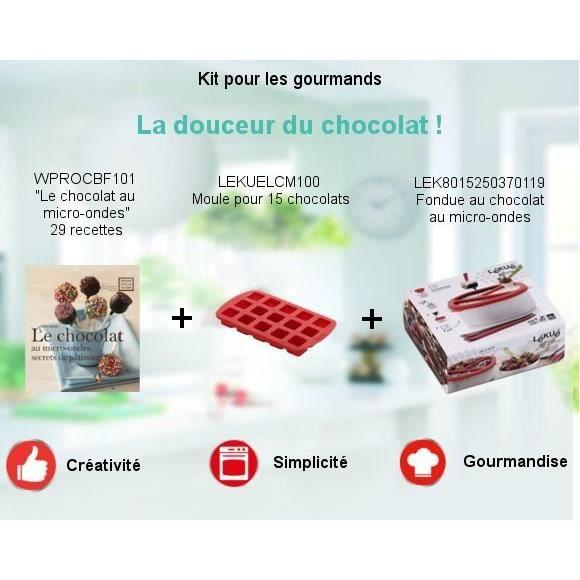 Pack Kit pour les gourmands spécial micro-ondes - Fondue au chocolat + Livre \