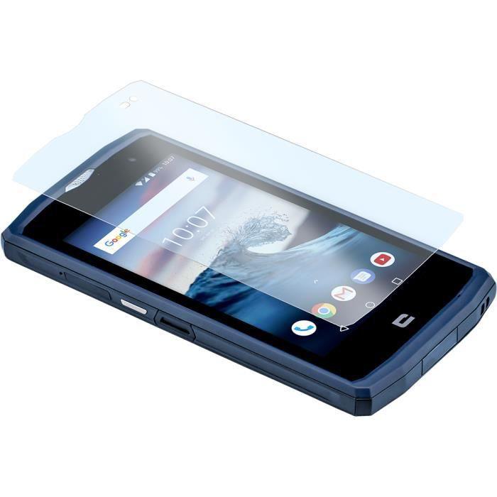 CROSSCALL CROSSCALL En verre trempé, Silicone Transparent Protecteur écran - Pour LCD Smartphone