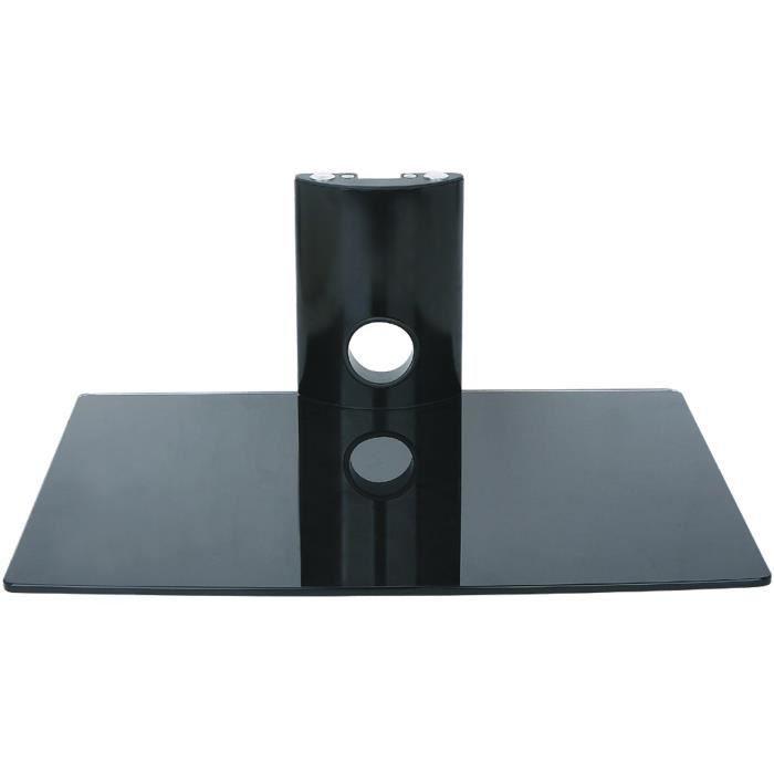 INOTEK FALCON 101 Tablette murale pour périphériques audio vidéos - 1 tablette en verre noir sécurit - 1 x 15 kg