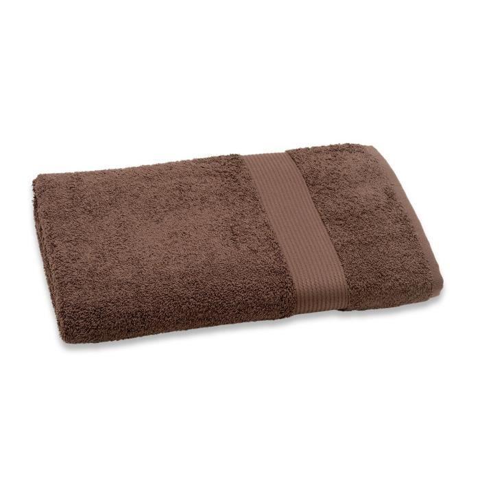 Composition : 100% coton - Grammage : 450 gr/m² - Coloris : brun - Dimension : 70x140 cm - Lavage à 60°CSERVIETTE DE BAIN - DRAP DE BAIN