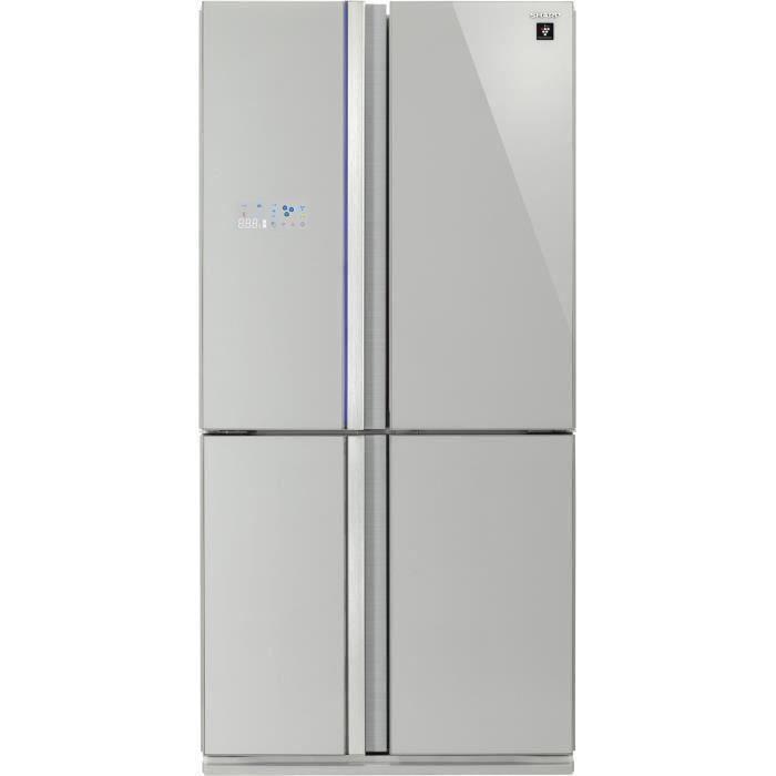SHARP - SJ-FS810VSL - Réfrigérateur Multi-portes - 600L (393L+207L) - Froid ventilé No Frost - A+ -
