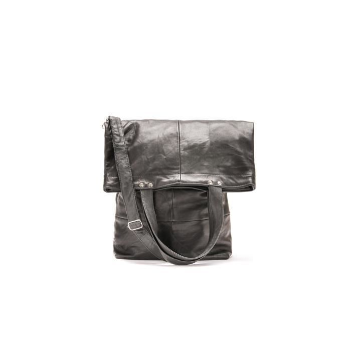 Sacs Weekender Small Soft Leather Black