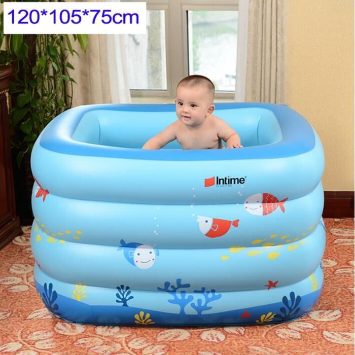 Forme carr bleu piscine gonflable grande enfants de for Piscine carre gonflable