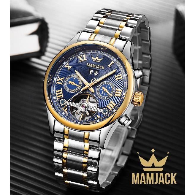 Date Homme Automatique Luxe Modèle Fonction Avec Multi Montre Mamjack Bracelet Nouveau Acier 9IEDH2eWYb