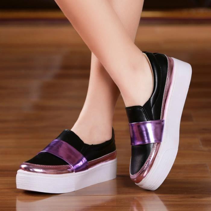 2016 printemps plateforme chaussures sports coréens loisirs femmes blanc avec des chaussures plates d'étudiant