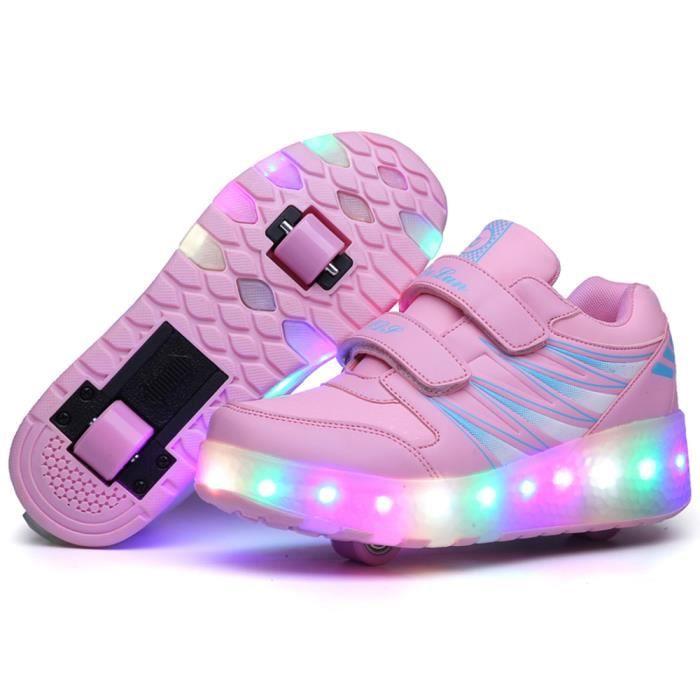 Husk'Sware® Enfant Heelys Chaussures à Roulettes avec Roues Chaussures pour Enfants Garçons Filles Sneakers Gsx6kZip8B