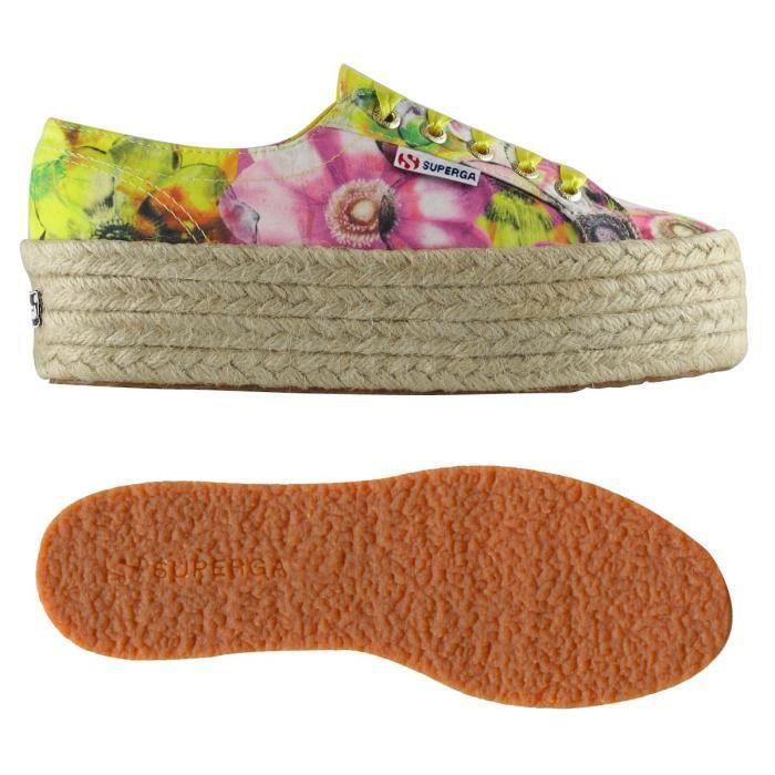 Chaussures 2790-FABRICFANPLROPEW pour femme, chaussures modèle plateforme, imprimé à fleurs