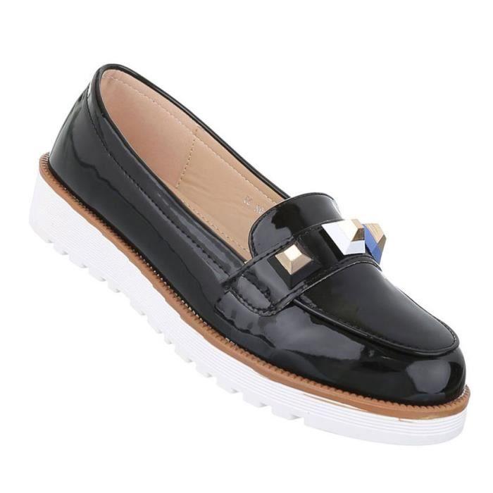 Femme chaussure bassechaussures moderne Slipper noir 41