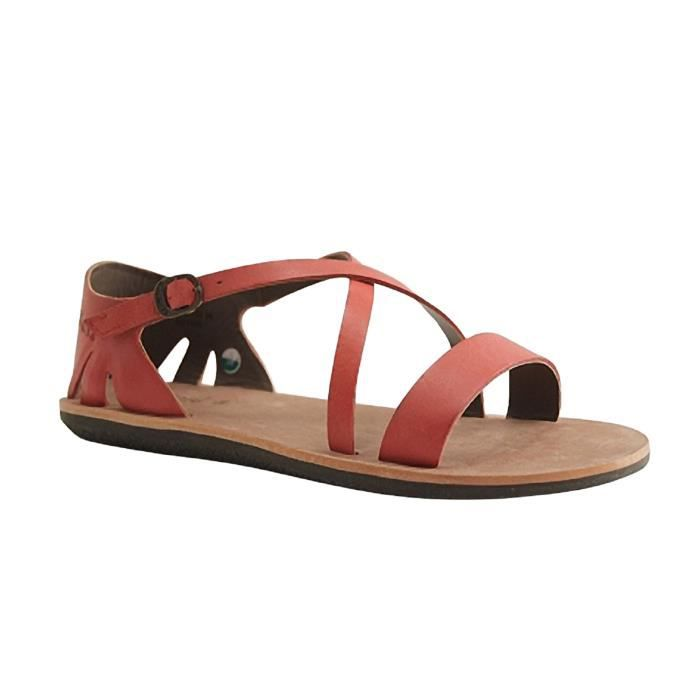 KICKERS-SPARTIME-NU PIED SALOME-ROUGE