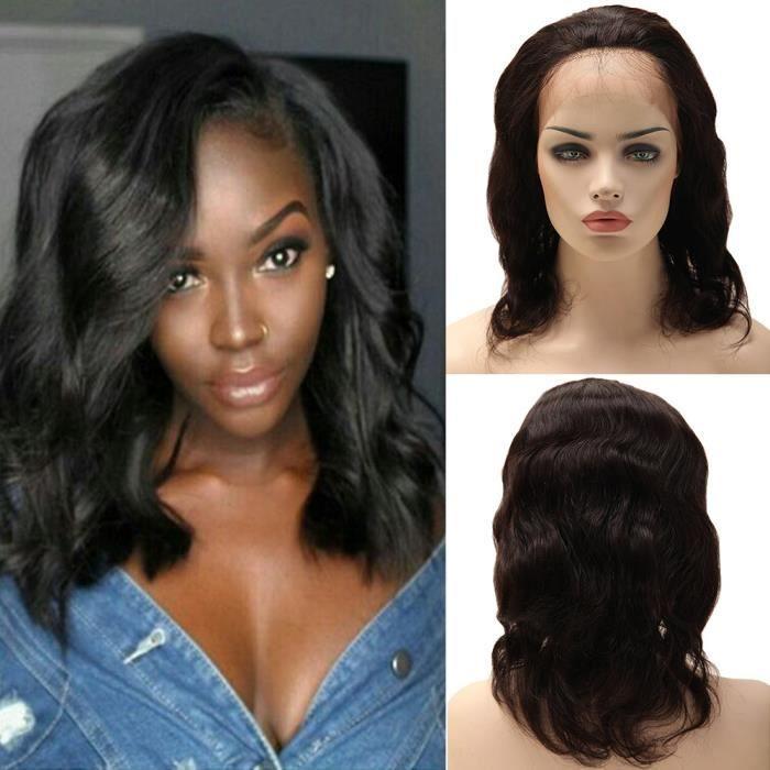10\' Perruque Naturelle Bresilienne Cheveux