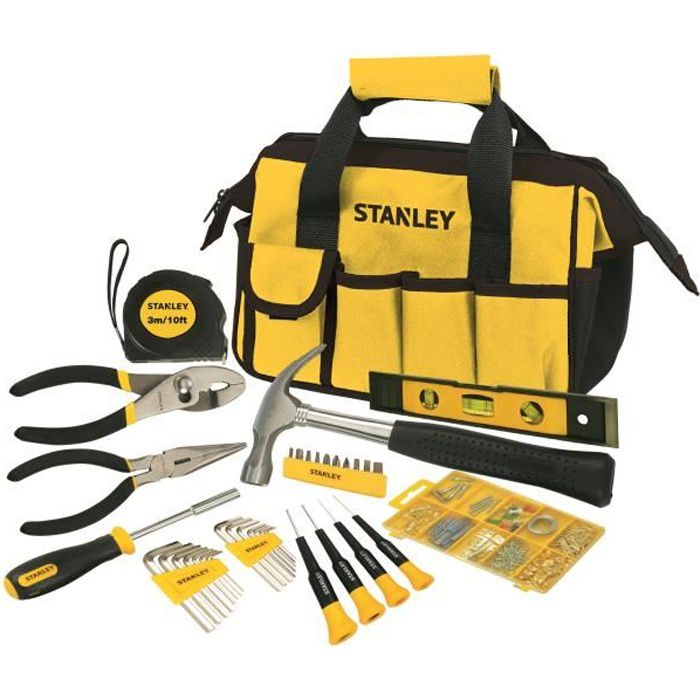 PACK OUTIL A MAIN STANLEY Coffret outils 38 pièces
