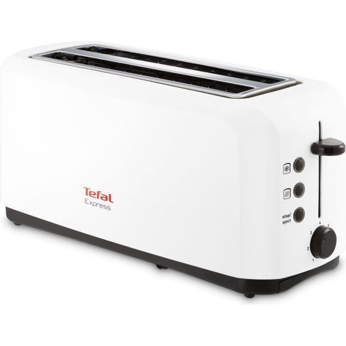 tefal tl270101 grille pain express blanc achat vente grille pain toaster cdiscount. Black Bedroom Furniture Sets. Home Design Ideas