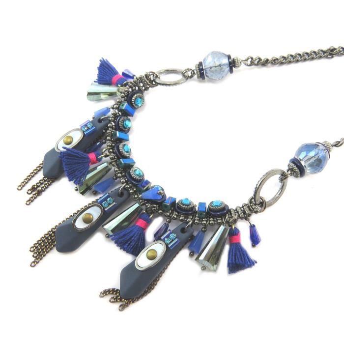 Collier Créateur Altai bleu[P4210]