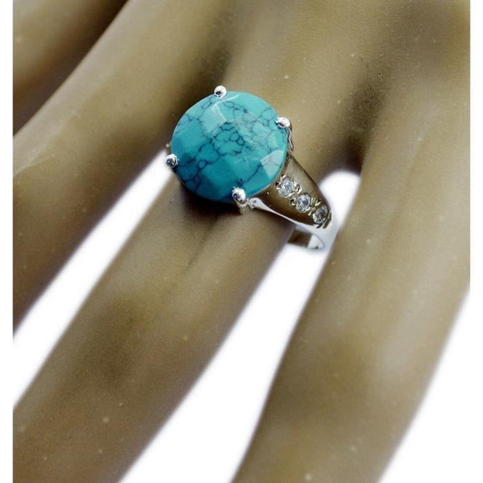 anneau turquoise multi - bague - Bague en argent - anneau dargent à plusieurs