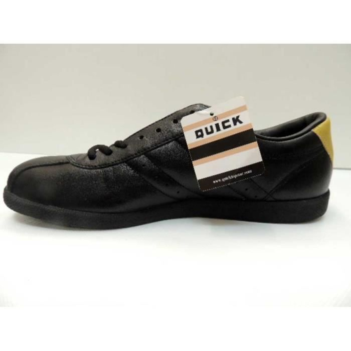 Chaussure Cuir Basse Vintage Quick Cosmos Noir Or Homme Pointure 45