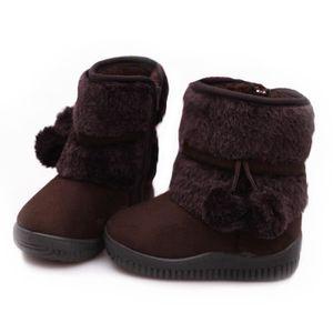 Hiver Bottes Enfants En Peluche Chaussures Filles Garçon Bottines GD-XZ095Rouge23 NgjzRxM