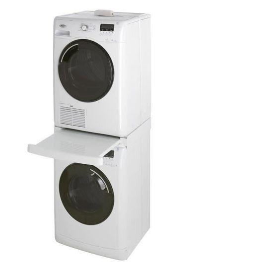 b84213ac16a4f WPRO SKS101 KIT DE SUPERPOSITION AVEC TABLETTE - Achat   Vente pièce  lavage-séchage - Cdiscount