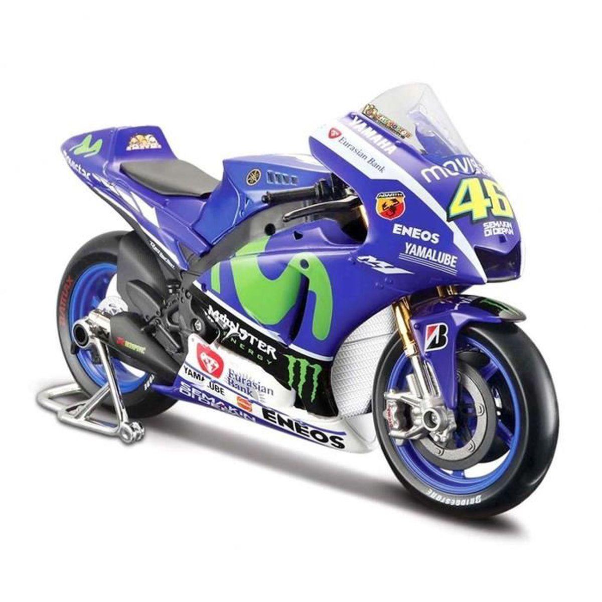 Maisto Modèle Réduit de Moto Miniature Yamaha YZR-M1 Team Valentino Rossi No 46 MotoGP 1/18 ...