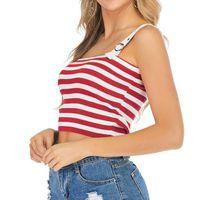 T-SHIRT Mode féminine Encolure Stripe CAIMS Tricoté manche
