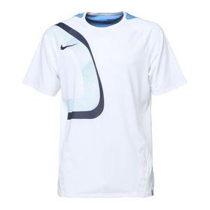 NIKE T-shirt Explsion Manches courtes - Homme - Blanc et bleu