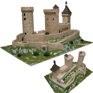 GARAGE - BATIMENT Maquette en céramique - Château de Foix, France