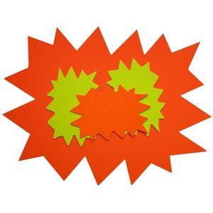GOMMETTE Paquet de 10 éclatés fluo effaçable à sec 12 x 16