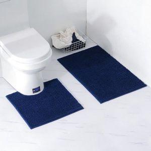 TAPIS   2 PCS Peluche courte chenille tapis de Bain de S