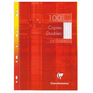 FEUILLET MOBILE Copie double blanche A4 - Étui de 100