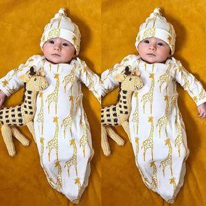 ccccc468c575f Ensemble de vêtements Nouveau-nés Enfants Bébé Filles Garçons Girafe Pyj