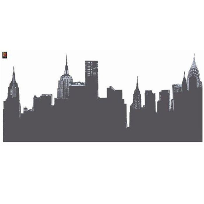 PLAGE Sticker déco ARDOISE - Vue de New York1 Planche 46x100 cm