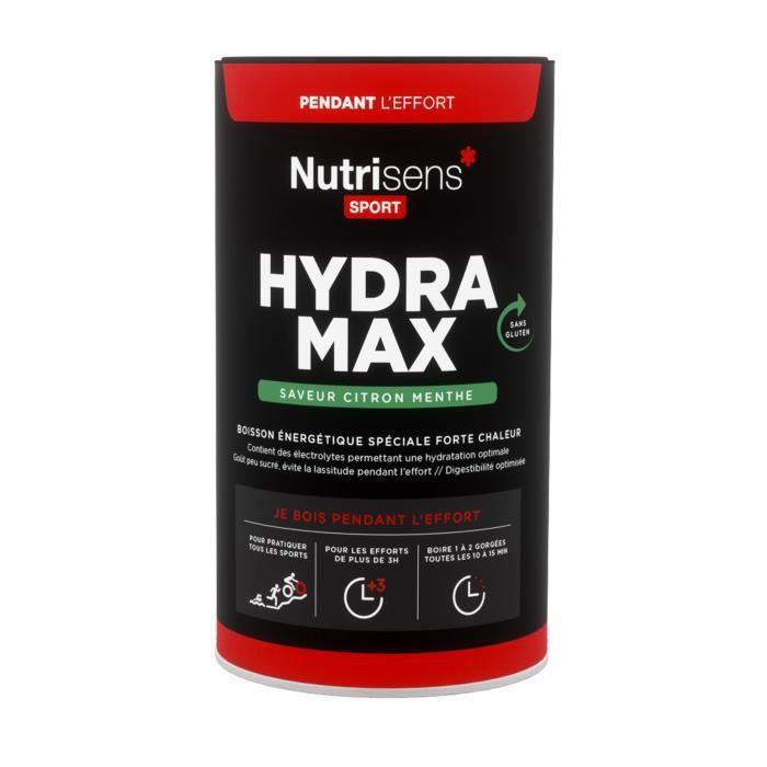 NUTRISENS Complément alimentaire - Pot de 560g pour préparation de boisson énergétique spéciale forte chaleur Hydra Max