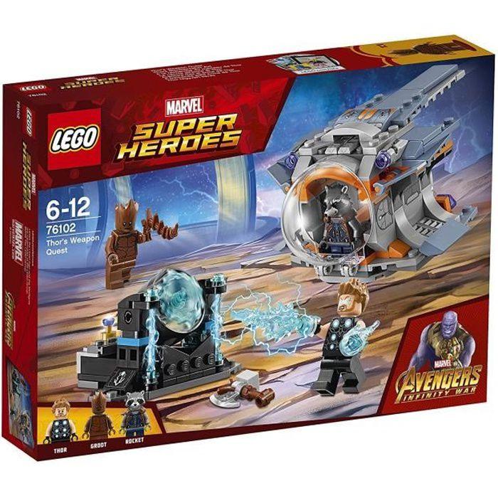 LEGO® Marvel Super HerŒs 76102 à la recherche du marteau de Thor