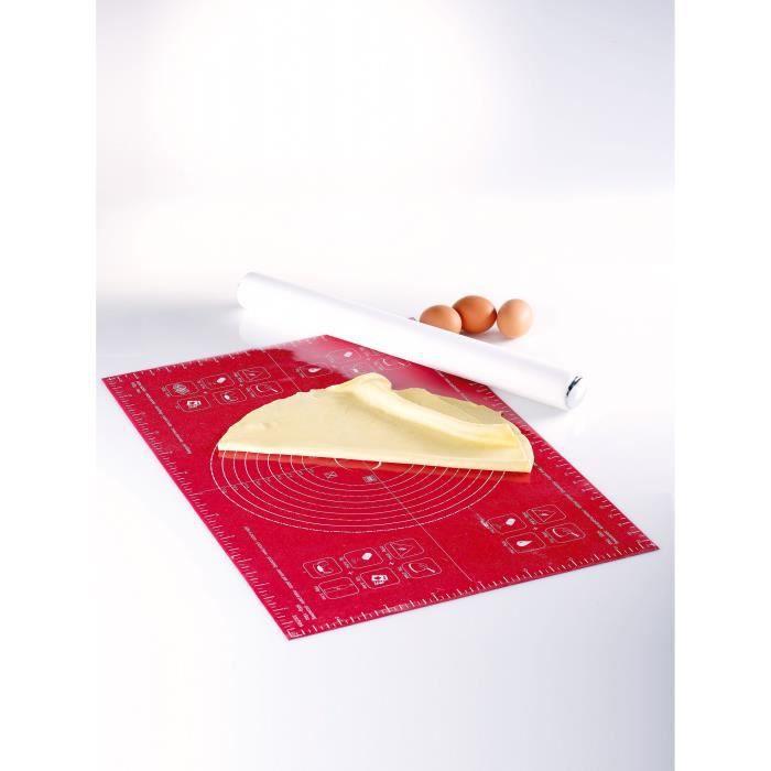 MASTRAD Feuille à pâtisserie graduée F45210 - 40 x 60 cm - Rouge