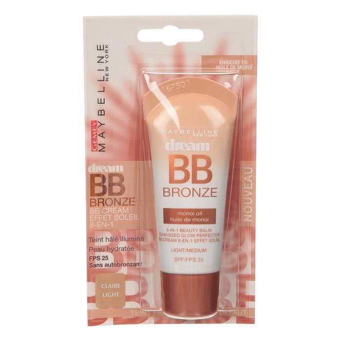 MAYBELLINE Crème teint Dream Bronze BB - 01 Claire - 30 mlCORRECTEUR DE TEINT - ENLUMINEUR - ANTI-CERNE