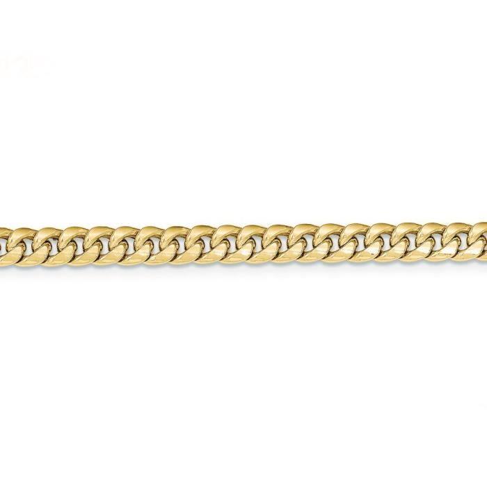 Creux 14 carats chaîne Miami Cuban - 18 cm