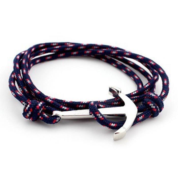 Bracelet corde et ancre