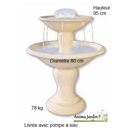 Fontaine Cascade en pierre reconstituée, 2 vasques - Achat / Vente ...