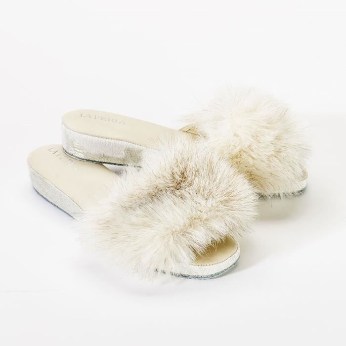 Chaussons Luxe Pernula Blanc ,36
