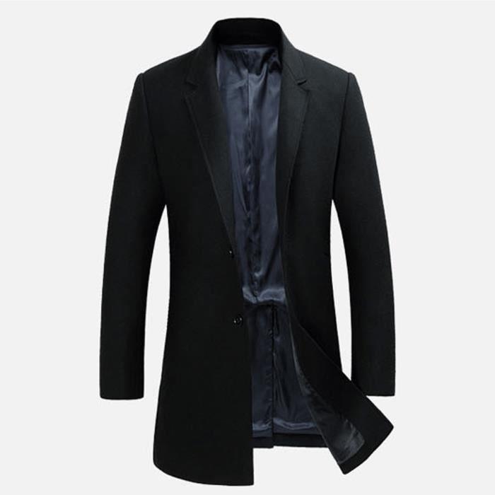 D'hiver manteau Marin Slim Ho Caban Gris bleu Veste rouge Pardessus noir wIFqRq