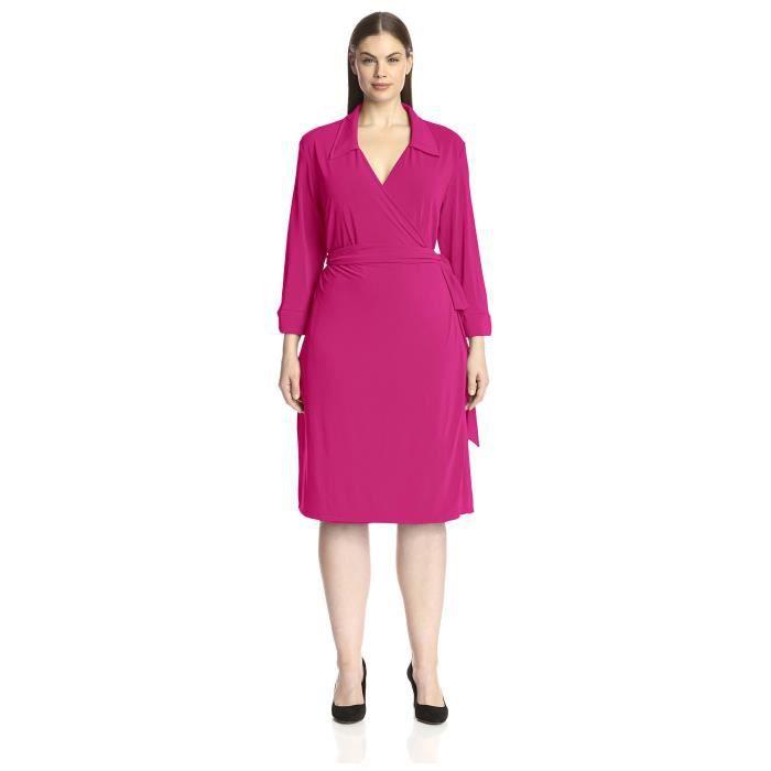 Craze womens robes du genou slim fit classique moulantes à manches 3-4 Q0S79
