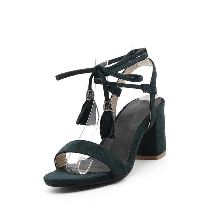 Sandales couleur unie Tassel Chaussures Ornement Strappy 4445276