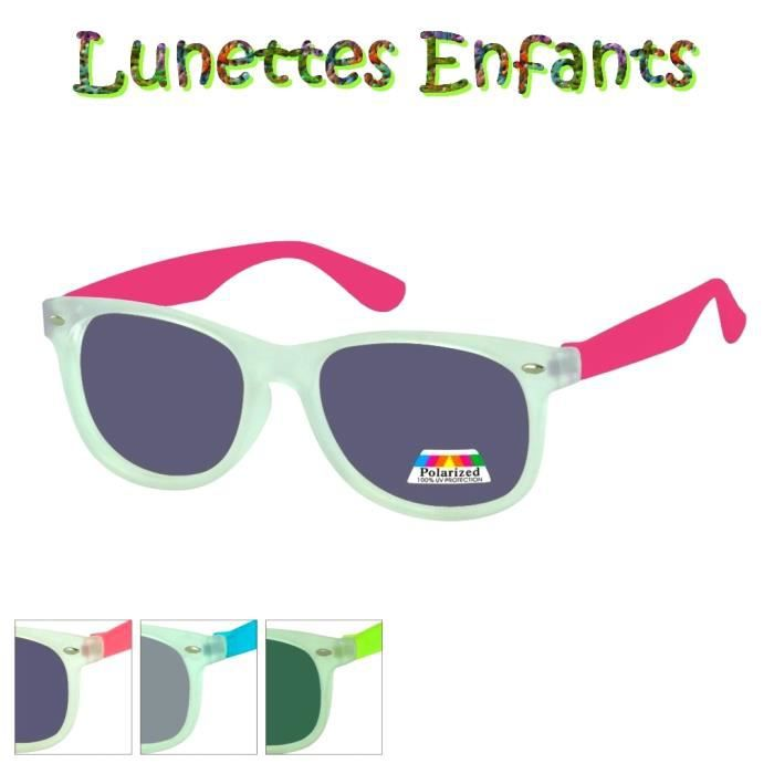 LUNETTES SOLEIL Garçon Fille ENFANTS WAYFARER Protection 100% POLARISE  Normes CE 79a54d98f87c