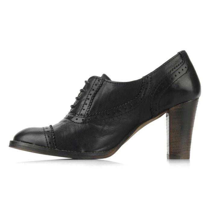 Chaussures à lacets low-boots cuir Le Temps Des Cerises Almas pointure 40