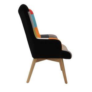 fauteuil scandinave patchwork achat vente pas cher. Black Bedroom Furniture Sets. Home Design Ideas