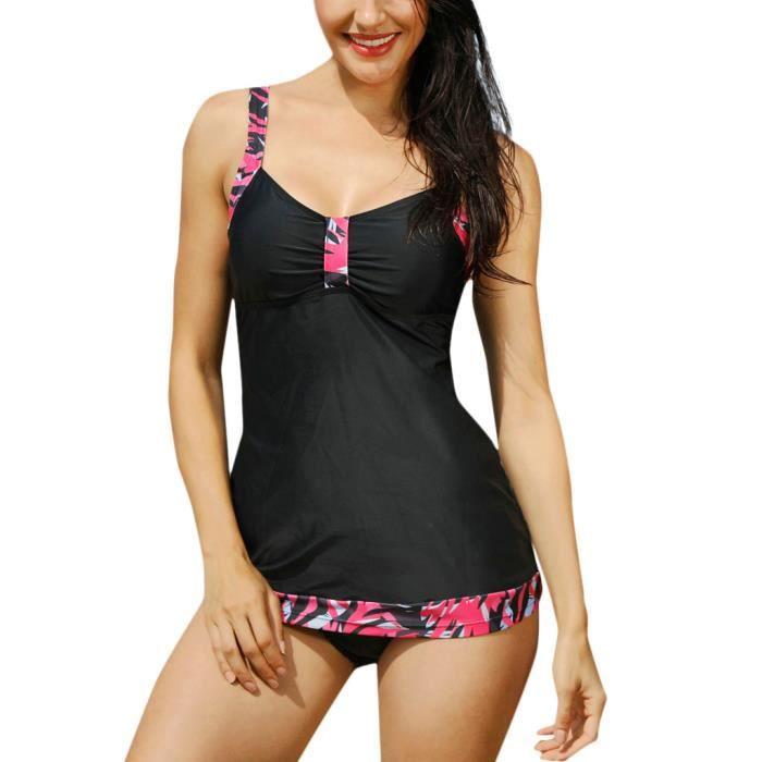 Setsswimwear Les Bikini Tankini Rembourré Soutien gorge Push Femmes Boy Short up Ensembles Avec Noir qnRYqaWr0