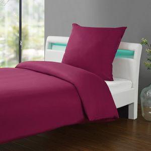 parure de lit bordeaux achat vente pas cher. Black Bedroom Furniture Sets. Home Design Ideas