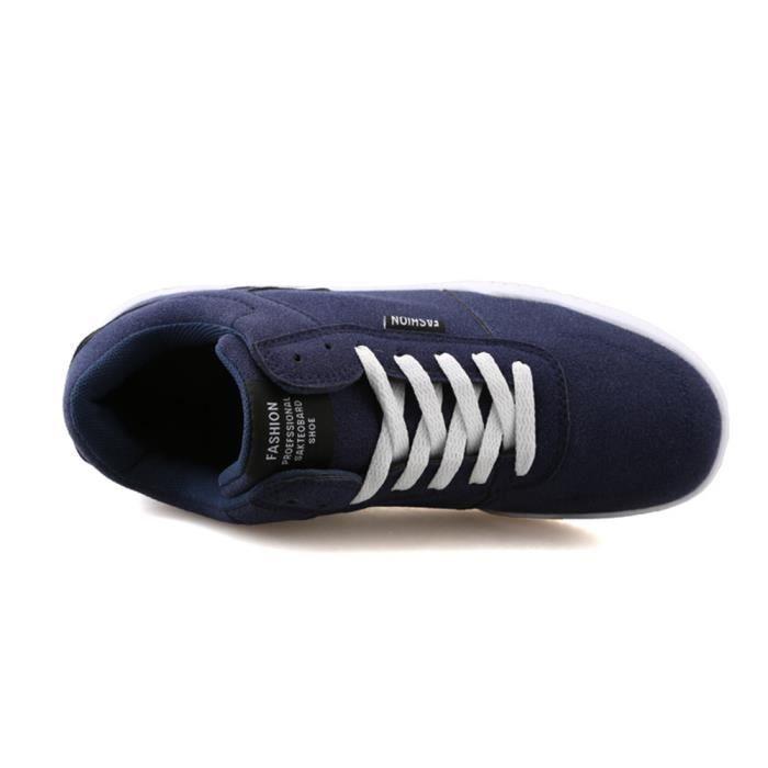 Des basket Antidérapant Respirant Basket Mode Chaussures pour hommes basket hommecasual nouvelle marque de l dssx255bleu44 T3iGB0